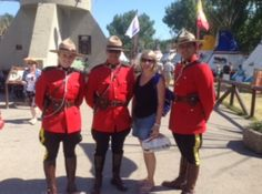 """At the Calgary Stampede, Context's Revenue Director Nicole Laporte gets some """"reinforcements"""" for her fundraising efforts for our show! We too stand on guard! What Really Happened, Calgary, Fundraising, Shit Happens, Life, Fundraisers"""