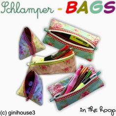 Schlamper-BAGS 14x20 in the hoop ♥ ITH Stickdateien - ginihouse3