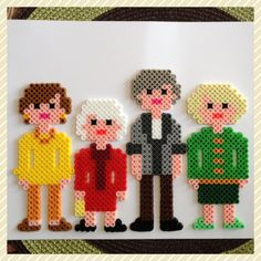 Golden Girls perler beads by K8BitHero