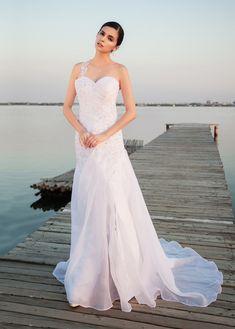 a6935d266026 CompriSplendido chiffon scollo a V guaina   colonna madre del vestito da  sposa con applicazioni in