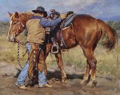 """Steady Now"" by Jason Rich (Cowboy Artist)"