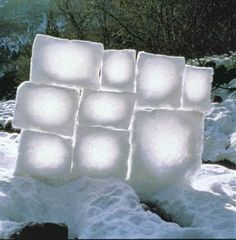 Goldsworthy: Snow Sculptures.  This is one of many Goldworthy creations that could go on this board.  There is something quite ethereal about this one that really appeals to and inspires me.