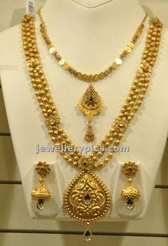 Malabar gold Gundla haram with locket - Latest Jewellery Designs