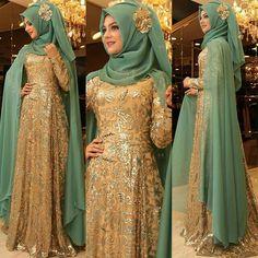 Muslim wedding dress Hijab Dress, Beautiful Hijab, Designer Dresses, Dan, Hijab Gown, Designer Gowns