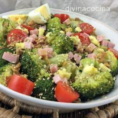 You searched for Ensalada de coliflor - Divina Cocina Salad Recipes, Diet Recipes, Cooking Recipes, Healthy Recipes, I Love Food, Good Food, Yummy Food, Deli Food, Dinner Salads