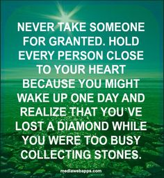 While busy collecting stones, you can lose your diamond