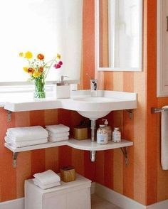Corner Bathroom Sinks Creating Space Saving Modern Bathroom Design This is the number one liked and pinned pic I have posted!