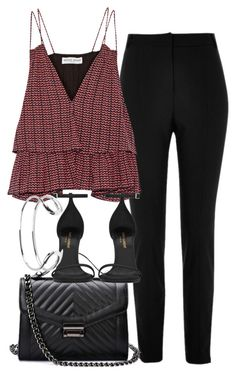 """Untitled #4368"" by olivia-mr ❤ liked on Polyvore featuring River Island, Apiece Apart, Yves Saint Laurent and Giles & Brother"