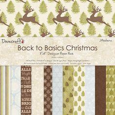 DOVECRAFT MODERN CHRISTMAS 8 X 8 DESIGNER PAPER 150gsm 48 SHEETS 12 DESIGN