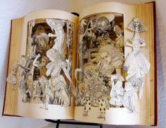 Alice in Wonderland altered book antique by Raidersofthelostart   etsy.com