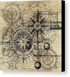 Autowheel IIi Art Print by James Christopher Hill Steampunk Print featuring the painting Autowheel IIi by James Christopher Hill Vintage Maps, Antique Maps, Steampunk Kunst, Steampunk Drawing, Vintage Wallpaper, Etiquette Vintage, Old Maps, Canvas Prints, Art Prints