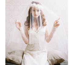 Bridal ballet blusher silk tulle veil  by EricaElizabethDesign, $395.00