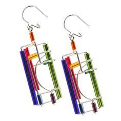 Barbie Levy Wire & Glass Earrings $49.95