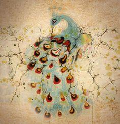 Tehnica EBRU: Dansul culorilor în apă | 21art Ebru Art, Turkish Art, Marble Art, Watercolor Tattoo, Paper Marbling, Texture, Peacock, Istanbul, Art Ideas