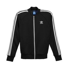 adidas Originals Superstar Track Jacket Men's (£54) ❤ liked on Polyvore featuring men's fashion, men's clothing, men's activewear, men's activewear jackets, mens track tops, mens activewear and mens track jackets