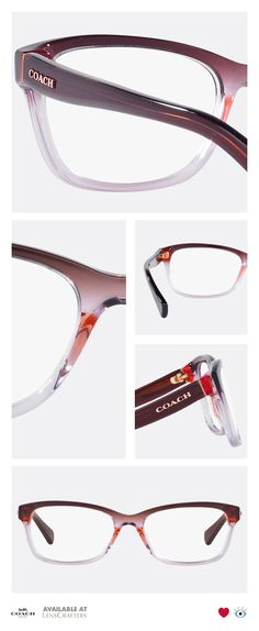 2932dacafa Add some fun and bold colors to your look with these vintage inspired  tri-gradient frames from the Coach Idol collection. These rectangular  acetate frames ...