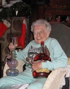 Grandma starting early
