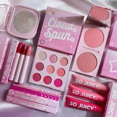 IG: @lapetitechicmommy Colourpop Cosmetics, Makeup Cosmetics, Pastel Makeup, Glitter Eyeshadow Palette, Skin Makeup, Pastel Pink, Cotton Candy, Pastels, Bloom