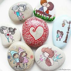 These beautiful and cute rocks could definitely be great gifts for your signifcant other. Sure, it's not expensive or perhpas shiny like diamonds, but if they're artsy, they would definitely appreciate these. And these are also too adorable to resist.