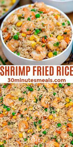 Easy Chinese Recipes, Easy Rice Recipes, Shrimp Recipes Easy, Easy Delicious Recipes, Fish Recipes, Seafood Recipes, Asian Recipes, Dinner Recipes, Cooking Recipes