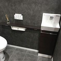 女性で、4LDKのアクセントクロス/壁紙/クッションフロア/男前/バス/トイレについてのインテリア実例を紹介。(この写真は 2016-10-29 08:50:17 に共有されました) Toilet Room, Natural Interior, Guest Bedrooms, Interior Inspiration, Ideal Home, House Design, Home Decor, Bathroom Ideas, Gardening