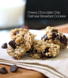 Chocolate Chip Oatmeal Breakfast Cookies