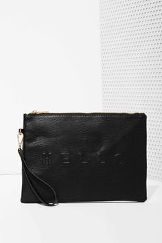 Hello Goodbye Vegan Leather Clutch | Shop Bags at Nasty Gal