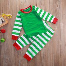 Children Autumn Christmas Clothes Set Baby Boys Pajamas Girls Kid Pjs Sleepwear Suit Outfit(China (Mainland))