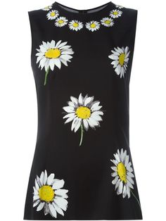 Shop Dolce & Gabbana daisy print tank top in Mantovani from the world's best independent boutiques at farfetch.com. Shop 400 boutiques at one address.