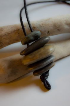 Shop for necklace on Etsy, the place to express your creativity through the buying and selling of handmade and vintage goods. Sea Jewelry, Rock Jewelry, Jewelry Crafts, Beaded Jewelry, Survivor Necklace, Natural Stone Jewelry, Egg Art, Beach Stones, Crafts To Make