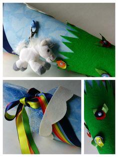 Regenbogen-Einhorn-Schultüte für den großen Tag - was soll da noch schiefgehen?!