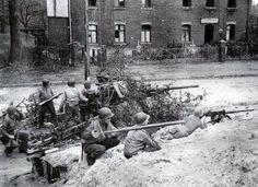 Posición defensiva estadounidense en Schauffenburg, 1944.