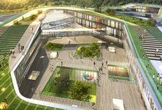 Bilderesultat for Cheongshim International Elementary School Education Architecture, Green Architecture, Concept Architecture, School Architecture, Landscape Architecture, Architecture Design, Plaza Design, Mall Design, Urban Landscape