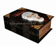 Handmade decorated jewelry box Dracula,  Dracula  jewelry box, Dracula book box, Bram Stoker inspired, Vampire book box, Transylvania gift
