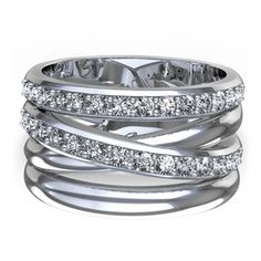 Right Hand Ring: Criss-cross bands $2120