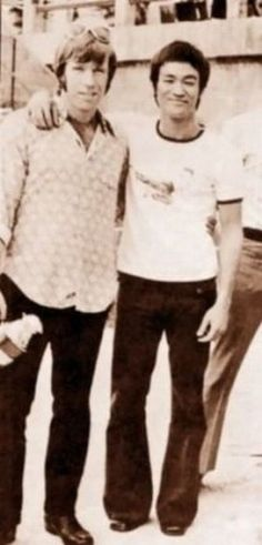 Bruce Lee and Chuck Norris...too much for one picture.