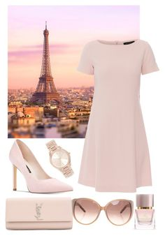 """Paris"" by vlntnk ❤ liked on Polyvore featuring Antonelli, Nine West, Michael Kors, Chloé, Yves Saint Laurent and Burberry"