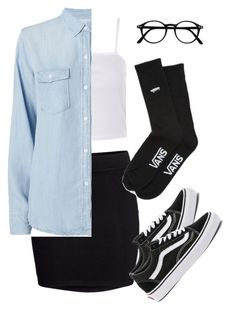 """#333"" by mintgreenb on Polyvore featuring Topshop, H&M, Rails and Vans"
