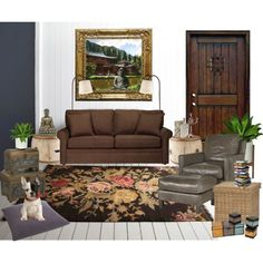 Eclectic living room with Buddha
