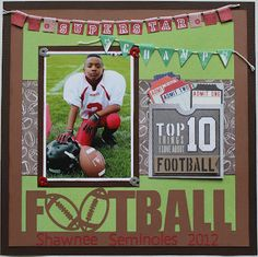 The Scrapbook Diva: Football - Shawnee Seminoles 2012