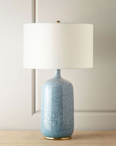 Shop Culloden Blue Lagoon Table Lamp from AERIN at Horchow, where you'll find new lower shipping on hundreds of home furnishings and gifts. Tiffany Table Lamps, Blue Table Lamp, Blue Lamps, Contemporary Table Lamps, Modern Table, Lamp Socket, Bedroom Lamps, Bedroom Table, Master Bedroom