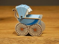 The Blue Baby Cart box is perfect for any christening favor for your guests. It is also ideal for any baby gift for your friends or family.
