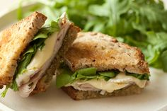 And for lunch, a turkey, brie and pesto panini.