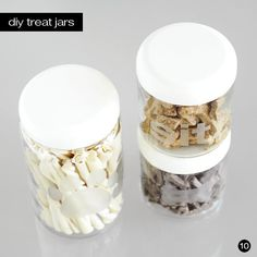 DIY Etched Glass Treat Jars // Easy DIY Gifts for Your Dog