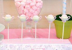 Tea Pots as Cake Pop's - Adorable Pink & Girly Tea Party Birthday
