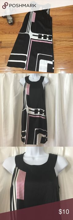 Silk Express Shift Dress Sz S Express Sleeveless Silk dress. Dress hangs off the body for a flattering look. Has been worn, no discernible markings but has been priced accordingly. Sz S Express Dresses