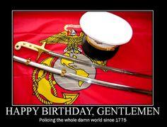 Happy Birthday and Semper Fidelis ladies and Gentlemen of the Marine Corps 11/10/14.