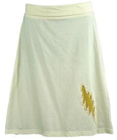 Jayli Imports, Inc. - Organic Cotton Midi Skirt with Bolt Applique and Stitching, $52.00 (http://www.jayli.com/organic-cotton-midi-skirt-with-bolt-applique-and-stitching/)