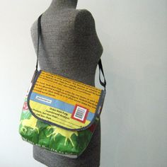 Recycled Feed Bag Messenger Cross Body By Onewomanstudio 46 Tote