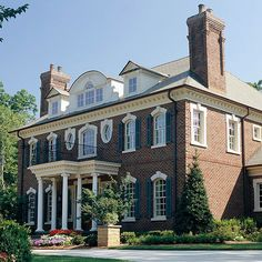 See More Beautiful Brick Homes Nothing like a classic, Georgian Colonial. Love, love, love it. (Or, a Colonial Revival, as they've categorized it.)